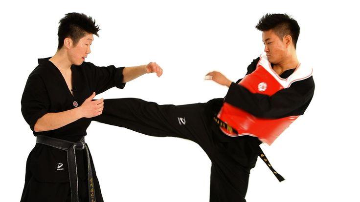 Watch more How to Do Taekwondo videos: http://www.howcast.com/videos/508756-How-to-Do-Sidestep-Technique-2-Taekwondo-Training Learn how to do taekwondo sides...