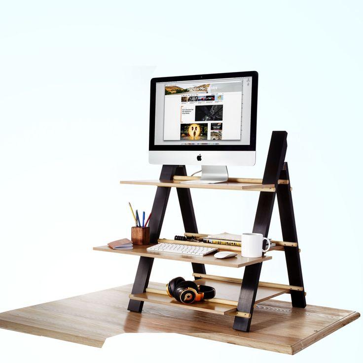 the 25 best stand up desk ideas on pinterest standing desks diy standing desk and laptop stand. Black Bedroom Furniture Sets. Home Design Ideas