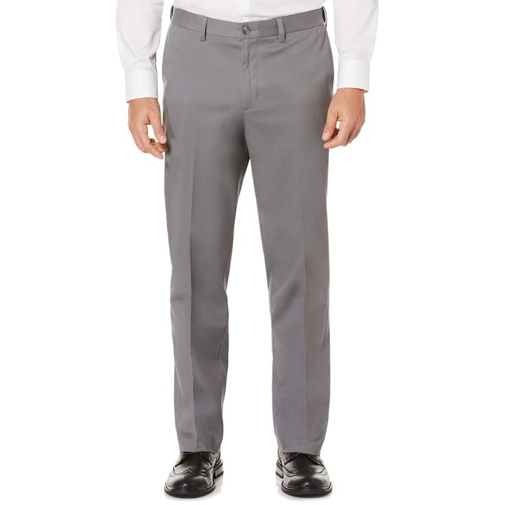 Men's Savane Ultimate Straight-Fit Performance Flat-Front Chino Pants, Size: 42X32, Grey Other