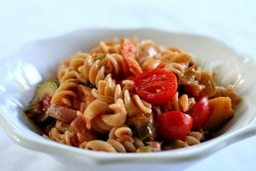 Classic Italian pasta primavera with sauteed fresh seasonal vegetables ...