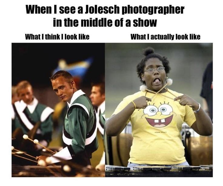 "Bahahaha (courtesy of ""Drum Corps Memes"" on FB)"