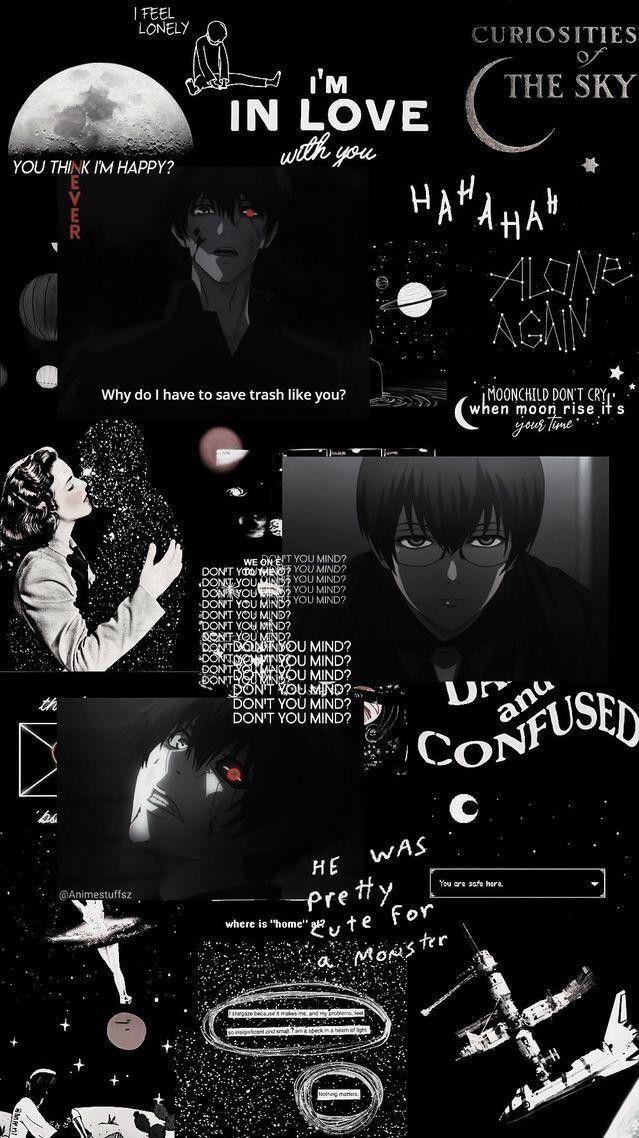 Wallpaper Black Tokyo Ghoul Wallpapers Dark Wallpaper Iphone Aesthetic Iphone Wallpaper Aesthetic dark anime wallpaper iphone