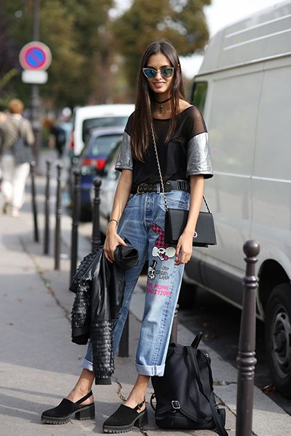 Gizele Oliveira at  the Paris Fashion Week Street Style = Your Ultimate Cheat Sheet to Looking Like the Chicest French Girl Ever #brazilianmodel #agenciaragazzo #model #PFW #SS2015 #StreetStyle #ragazzomgmt #model