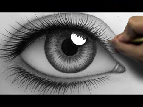 How to Draw a Realistic Eye (Time Lapse). Just for fun. Kiddos are gonna like the fast forward.
