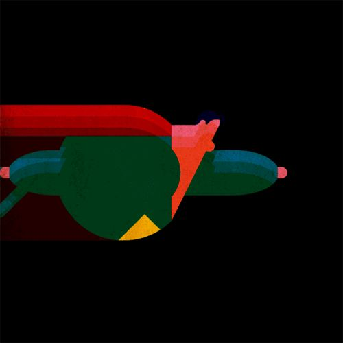 Is it a plane? Yes, yes it's a tiny red and blue plane. Jeez…
