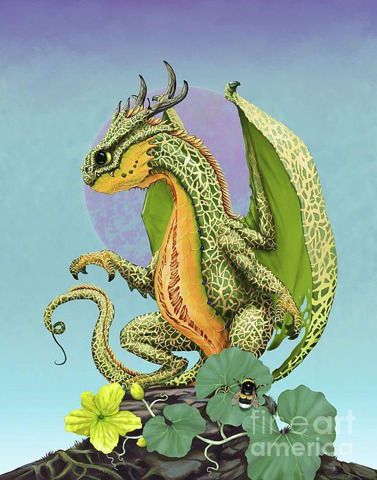 Cantaloupe Dragon Digital Art by Stanley Morrison