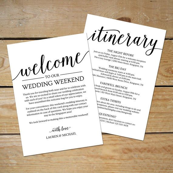 Best 25 wedding itinerary template ideas on pinterest wedding wedding itinerary template wedding welcome note printable junglespirit Images