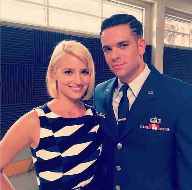 Dianna Agron and Mark Salling Film Glee Season 6