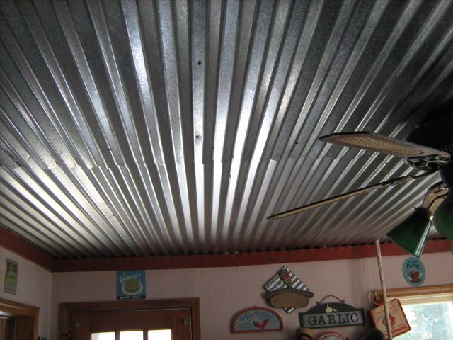 Best 25 corrugated tin ceiling ideas on pinterest for Metal barn over basement
