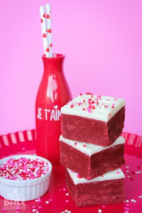 Red Velvet Cake Mix Fudge