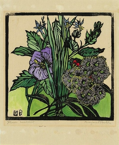 Margaret Preston  Native Hibiscus and Gum Flowers   1936