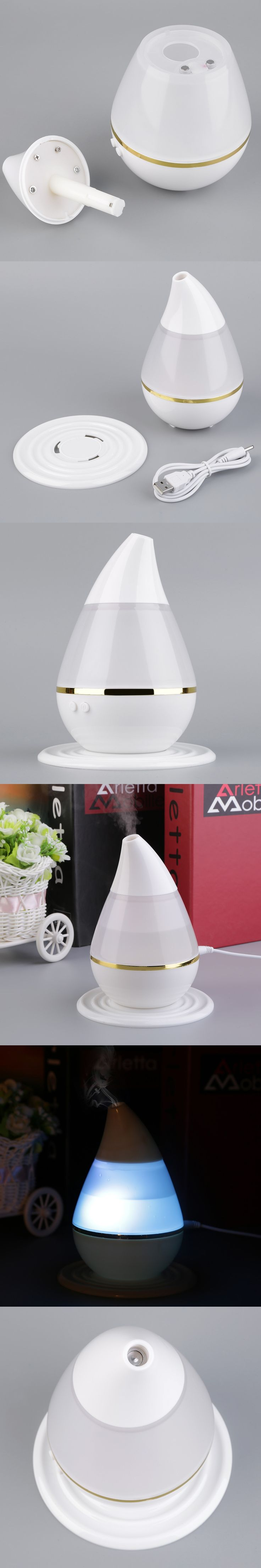 Ultrasound USB Air Humidifier Purifier 7 Colors Changing LED Aroma Atomizer Moisturizing Skin Care