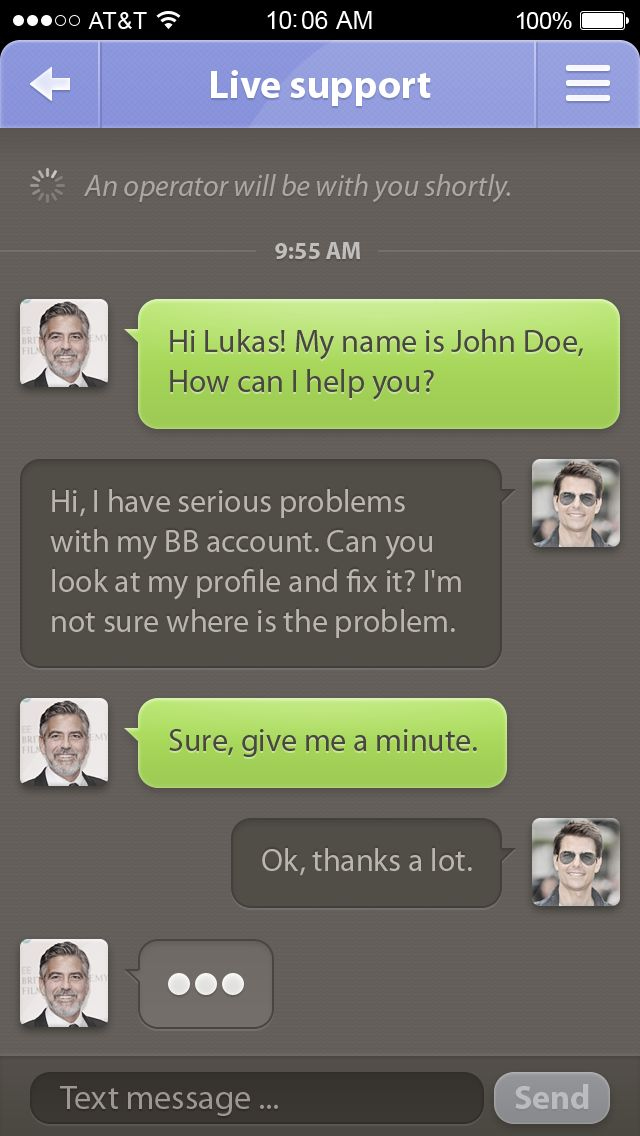 Live support #app by Lukas Troup #messenger #chat