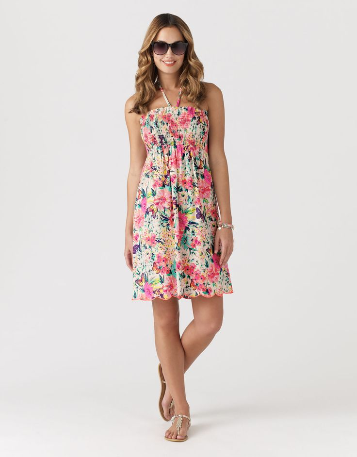 Lovely Accessorize floral dress, perfect for chilling in the garden!