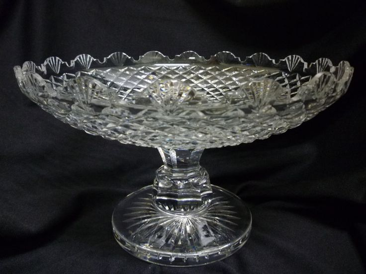 Waterford crystal pedestal compote centerpiece bowl