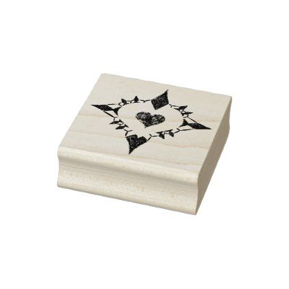Lovely Heart Rubber Stamp | Zazzle.com