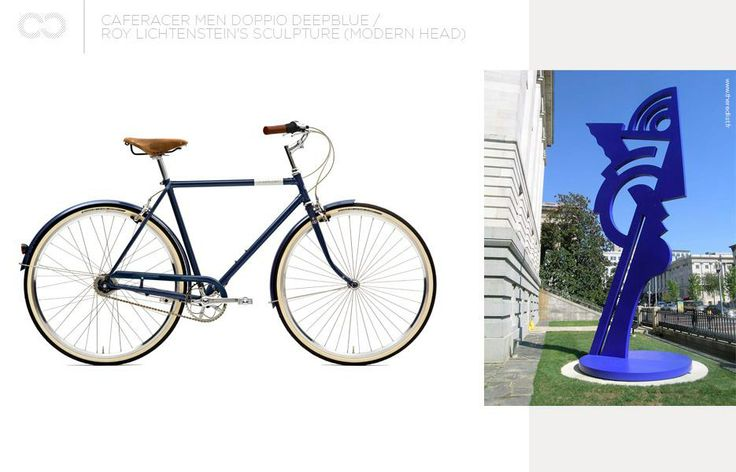 Caferacer men doppio deepblue + the Modern Head  #bike #creme #cycles #cremecycles #cycling #ride #mybike #freedom #lifestyle #art #life #love #city #cyclingphotos