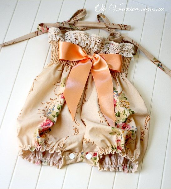 RESERVED FOR MICHELE Vintage Baby Playsuit & by OhVeronicaGirl