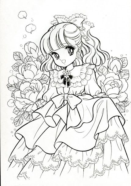 vintage japanese coloring book 7 manga for the top - Children Colouring Book