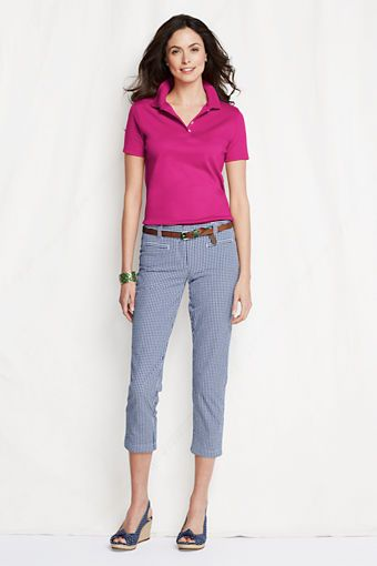 Womens Short Sleeve Pima Polo Shirt from Lands End