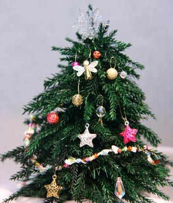 Miniature Christmas Tree Ornaments Made From Beads: Make Ornaments for Miniature Christmas Trees from Beads