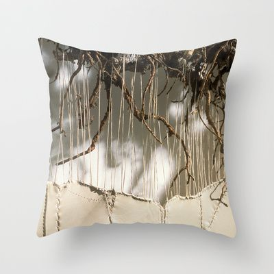 Vine & Leather Throw Pillow by Peta Sun Fire - $20.00