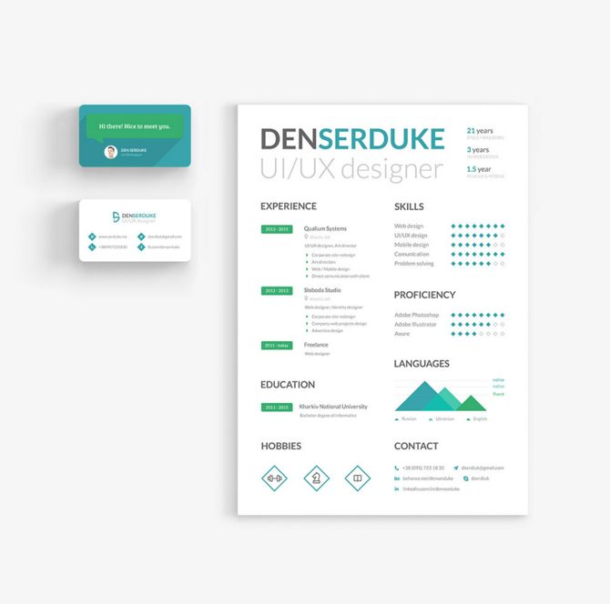 create your creative clean cv resume with free creative resume and business card template - Simple Resume Builder Free