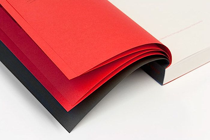Book end pages – red