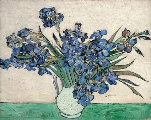 Vincent van Gogh (Dutch, 1853–1890). Irises, 1890. Oil on canvas; 29 x 36 1/4 in. (73.7 x 92.1 cm). The Metropolitan Museum of Art, New York,