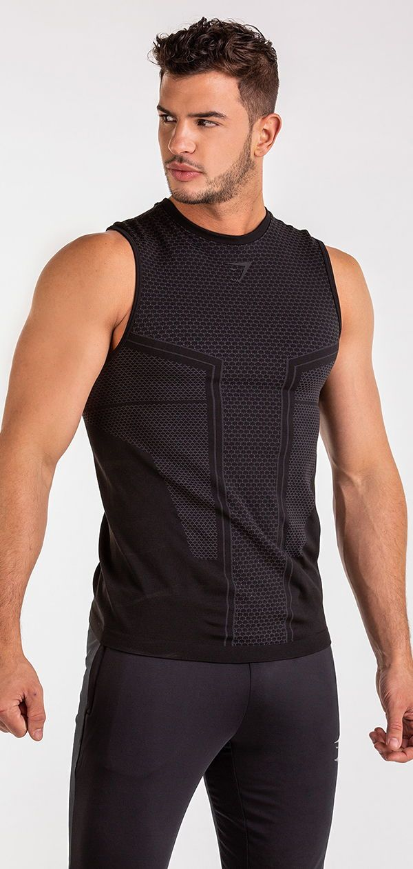 5a988ae812459 Embrace and enhance, with the Onyx Imperial Tank. #gymshark ...