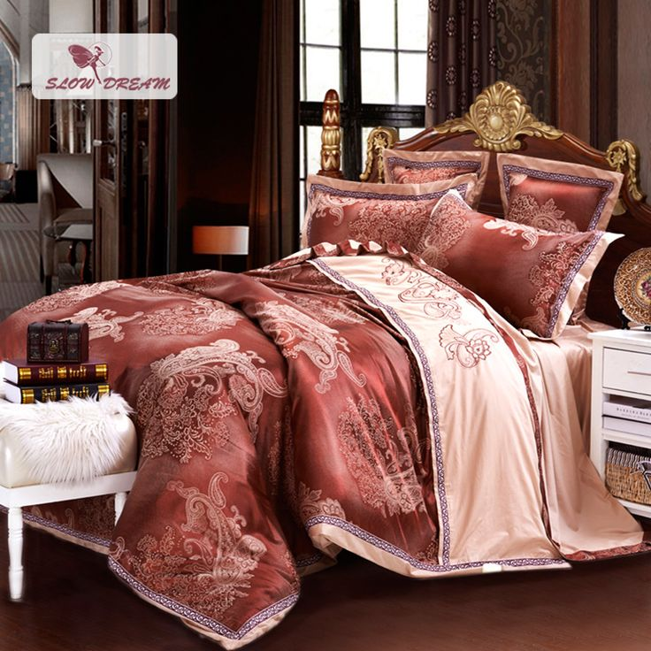 SlowDream Luxury Gong Satin Jacquard Bedding Set 60 Satin Cotton Classic Duvet Cover Set 100% Cotton Bed Set With Flat Sheet. Yesterday's price: US $159.90 (129.76 EUR). Today's price: US $95.94 (77.86 EUR). Discount: 40%.