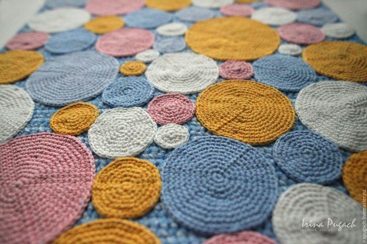 Купить Зефирки  ковер вязаный ручная работа купить - вязаные ковры, купить ковер