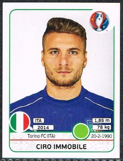 UEFA EURO 2016 Ciro Immobile  Italy - 514 #Panini #stickers #Italy #Immobile