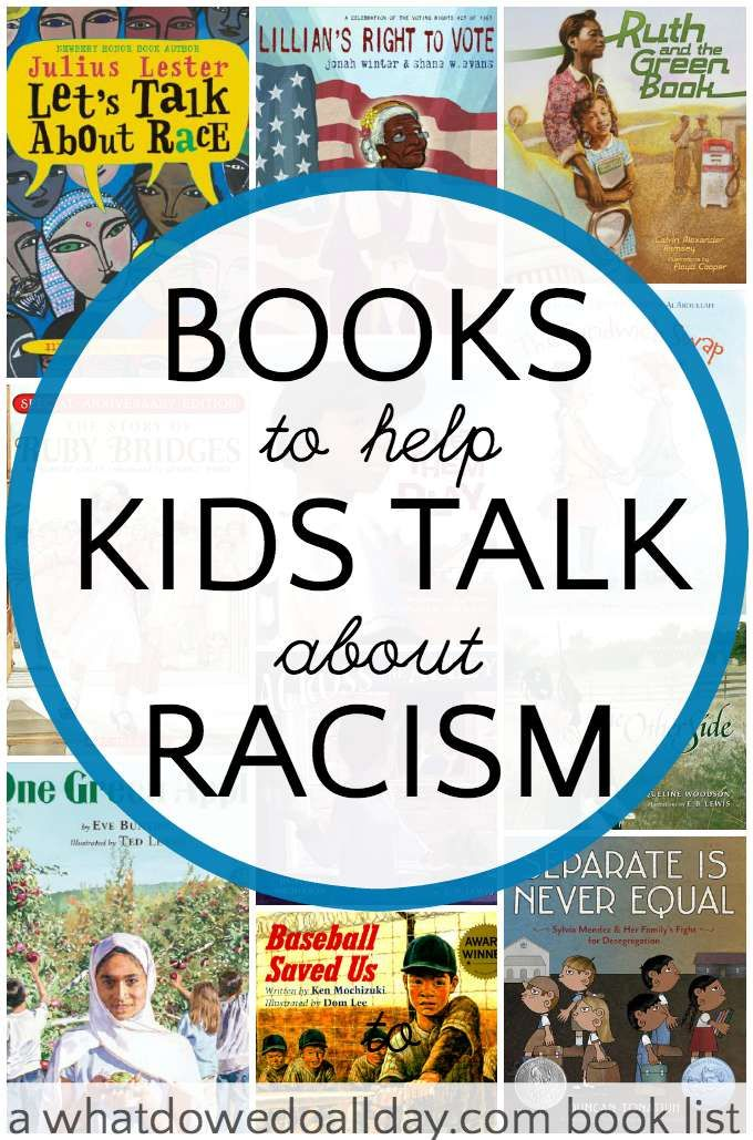 Great list of kids books about racism and the effects of prejudice. Will spark some great discussion with kids about what they can do.