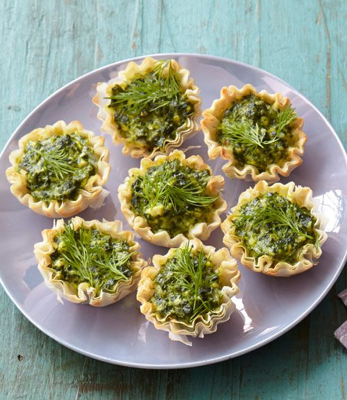 Feta and Spinach Tartlets