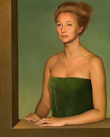 Claudio Bravo - Portrait of a madam, 1963, oil on...