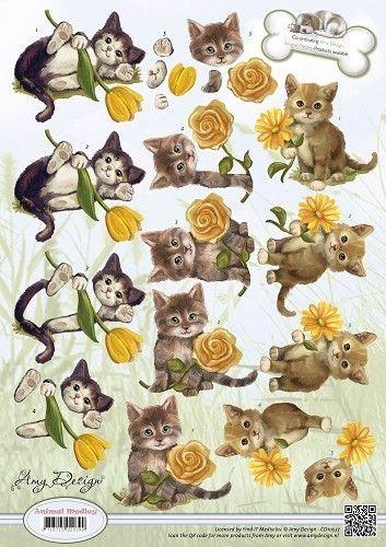 Kittens Decoupage sheet