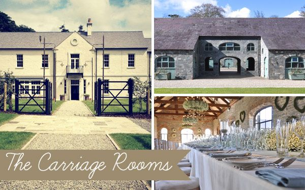 The Carriage Rooms at Montalto - Read more on One Fab Day: http://onefabday.com/10-unusual-irish-wedding-venues/