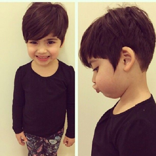 Could this picture be any cuter ??? @caitlincutshair.  #pixiecut #shorthaircut #kidpixiecut #shorthair