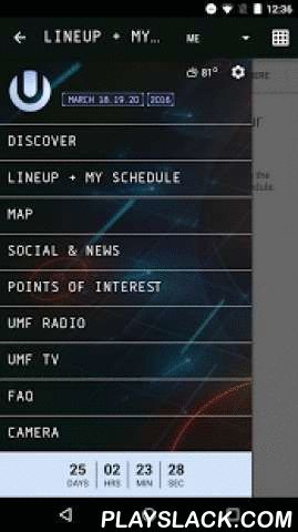 Ultra 2016  Android App - playslack.com ,  Download the OFFICIAL Ultra Music Festival mobile application!Features include:- Customizable 'My Schedule,' including share feature so attendees can plan and compare their personal festival experience!- Lineup/Artist information, including set times and stages.- GPS coordinated map to guide attendees to important locations such as food, merchandise booths, first aid, and sponsor areas throughout the festival.- Up-to-the-minute news feed, keeping…