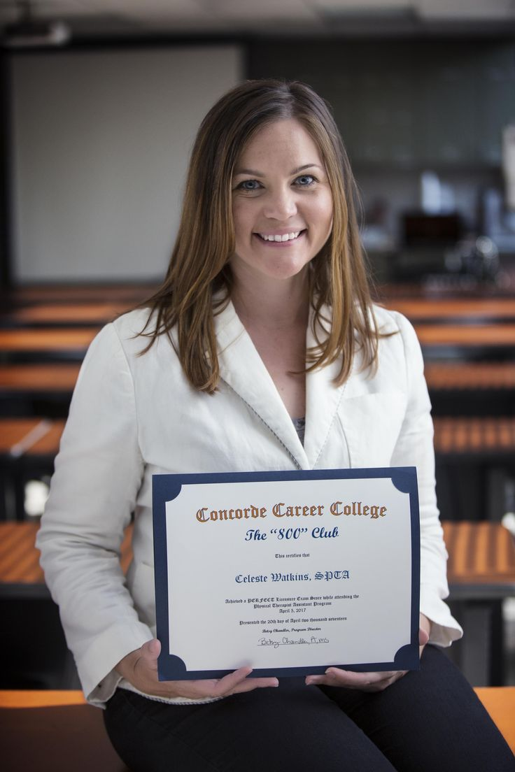 Physical Therapist Assistant Celeste Watkins, who graduated from the PTA program at Concorde - Dallas achieved a perfect score on her national PTA exam.