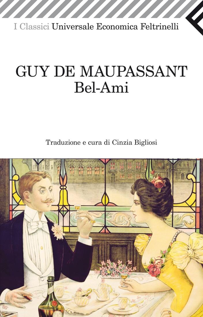 """Guy de Maupassant, """"Bel-Ami"""". Georges Duroy, che le amanti chiamano vezzosamente """"Bel-Ami"""", è un aitante giovane normanno che arriva nella capitale in cerca di fortuna. In breve la sua vitalità prorompente, inarrestabile e assetata di riconoscimenti lo porterà..."""