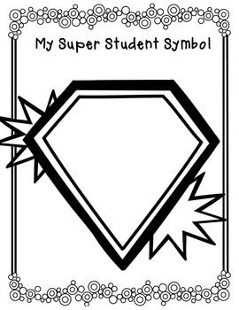 Super hero all about me packet! Great for back to school!