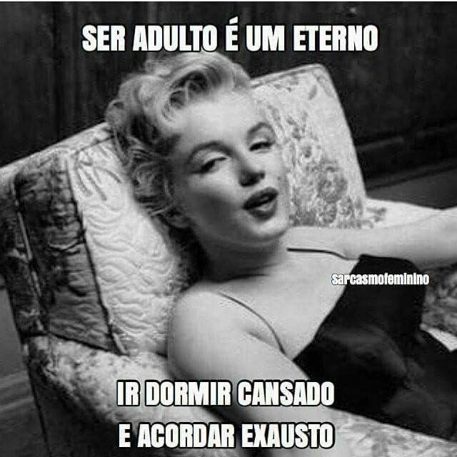 Ser adulto é um eterno ir dormir cansado e acordar exausto...
