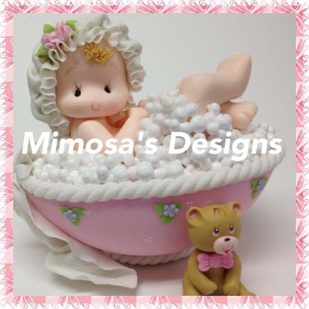Bebé En Tub- Chica Cake Topper