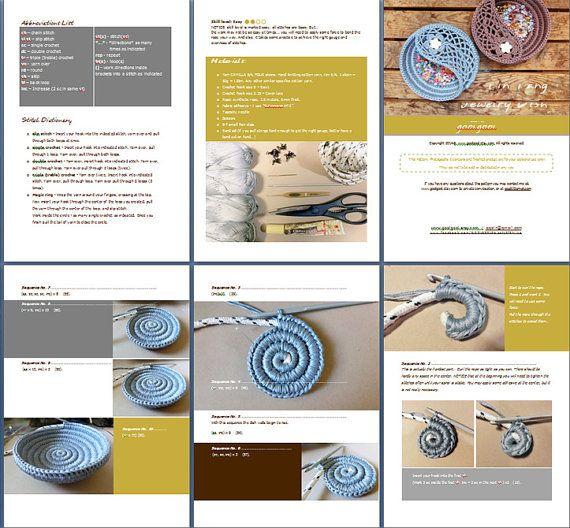 Crochet patrones de cesta, Yin Yang joyas plato 6, Foto Tutorial. Placa de anillos, ganchillo San Valentín regalos para ella. Este listado está para el