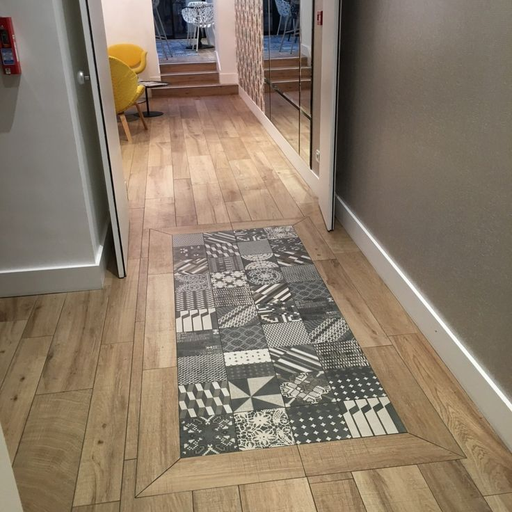 Carreaux de ciment plus parquet