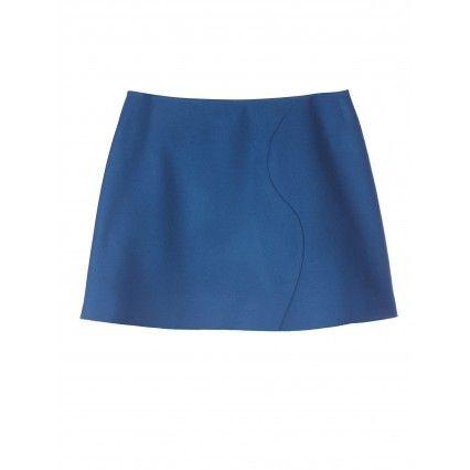 EDGE-TO-EDGE MINISKIRT #lautrechose #fashion #blue #trend #FW2013