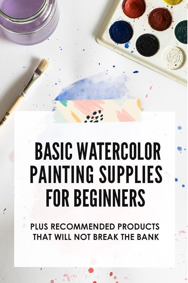 Basic Watercolor Painting Supplies For Beginners Watercolor