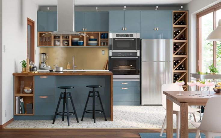 Open plan kitchen with an open door policy